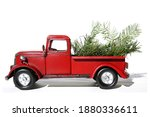 red pick up truck. vintage pick ... | Shutterstock . vector #1880336611