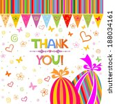 thank you card.  illustration  | Shutterstock . vector #188034161