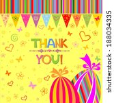 thank you card.  illustration  | Shutterstock . vector #188034335