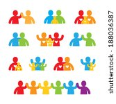 family icon set | Shutterstock .eps vector #188036387