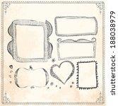 vintage frames and design... | Shutterstock .eps vector #188038979
