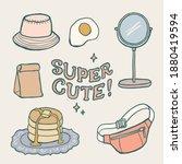 hand drawn set of random... | Shutterstock .eps vector #1880419594