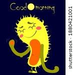 cute cartoon yeti with text... | Shutterstock .eps vector #1880421001