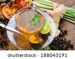 cup of asian herbal tea  | Shutterstock . vector #188043191