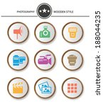 photography buttons wood style... | Shutterstock .eps vector #188044235
