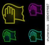 arm handkerchief carwash neon...