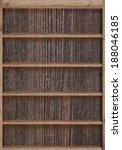 wood bookshelves vintage retro | Shutterstock . vector #188046185