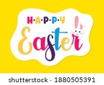 easter rabbit  easter bunny.... | Shutterstock .eps vector #1880505391