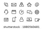 contact us. web business icons. ... | Shutterstock .eps vector #1880560681