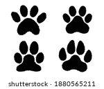 set of pets paws. collection of ...   Shutterstock .eps vector #1880565211