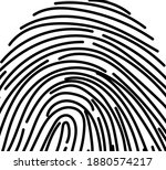 black and white finger print... | Shutterstock .eps vector #1880574217