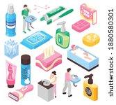 personal family hygiene set...   Shutterstock .eps vector #1880580301