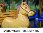 Close Up Of The Carousel Horse...
