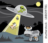 alien transported cows on the... | Shutterstock .eps vector #188059781
