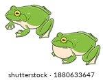 frogs. colored vector... | Shutterstock .eps vector #1880633647