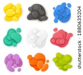 paper cut elements. gradient... | Shutterstock .eps vector #1880635204