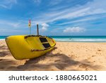 Life Guard Kayak Boat On The...