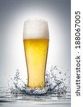 glass of beer with water splash. | Shutterstock . vector #188067005