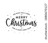 we wish you a very merry...   Shutterstock .eps vector #1880670127