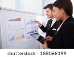 businessman analyzing graph... | Shutterstock . vector #188068199