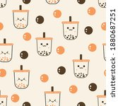seamless pattern with bubble... | Shutterstock .eps vector #1880687251