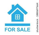 for sale house promotion sign... | Shutterstock .eps vector #1880697664