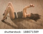 sexy young woman in a dancing... | Shutterstock . vector #188071589