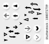 set of arrows signs. vector... | Shutterstock .eps vector #188072759