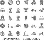 thin line gray tint vector icon ... | Shutterstock .eps vector #1880730877
