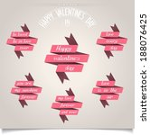 set of ribbons with different... | Shutterstock . vector #188076425