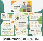 business presentation templates....   Shutterstock .eps vector #1880768161
