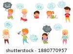 interested kids imagining... | Shutterstock .eps vector #1880770957