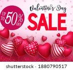 valentine's day sale vector...   Shutterstock .eps vector #1880790517