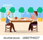 people on a date flat vector... | Shutterstock .eps vector #1880794027