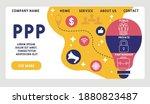 vector website design template .... | Shutterstock .eps vector #1880823487