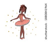 ballerina with dark skin...   Shutterstock .eps vector #1880841964
