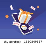to issue gifts and coupons to...   Shutterstock .eps vector #1880849587