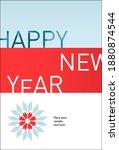 happy new year vector banner....   Shutterstock .eps vector #1880874544