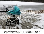 Colorful Baby Carriage In The...