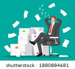 business man character sleep in ... | Shutterstock .eps vector #1880884681