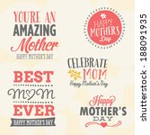 mother's day vector set   5... | Shutterstock .eps vector #188091935