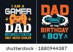 dad of the birthday boy t shirt ... | Shutterstock .eps vector #1880944387
