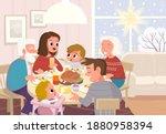 vector. portrait of family... | Shutterstock .eps vector #1880958394