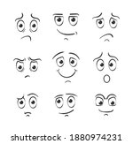 different facial expressions in ...   Shutterstock . vector #1880974231