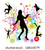 dancing happy people vector... | Shutterstock .eps vector #18810079