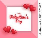 valentine's day sale banner... | Shutterstock .eps vector #1881028627
