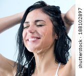 Woman Washing Her Head While...
