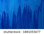 abstract hand painted blue... | Shutterstock . vector #1881053677