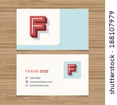 business card with alphabet... | Shutterstock .eps vector #188107979