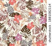 seamless pattern of beautiful... | Shutterstock .eps vector #1881082114